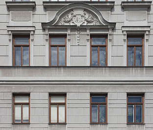 vienna austria building facade residential house tenement neoclassical