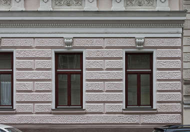 window ornate tenement wooden windows neoclassical
