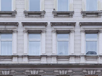 facade building residential tenement neoclassical window windows