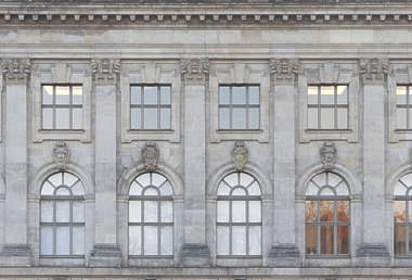 building facade residential neoclassical house