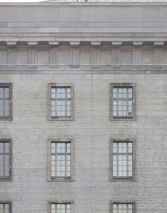 building facade neoclassical windows