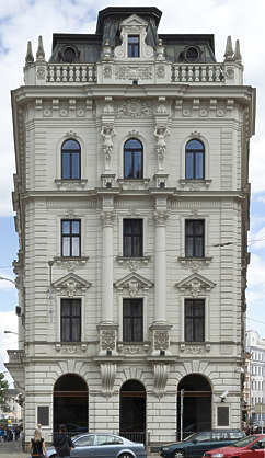 building neoclassical house residential tenement ornate
