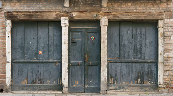 venice italy door wooden shop front facade building