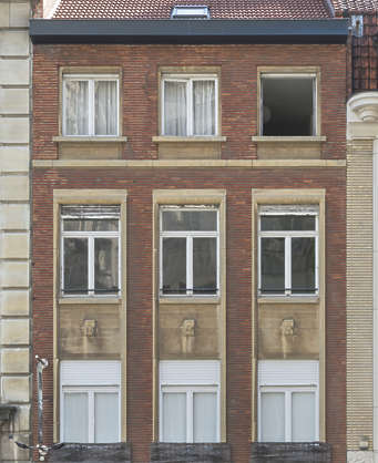 building facade windows belgium house