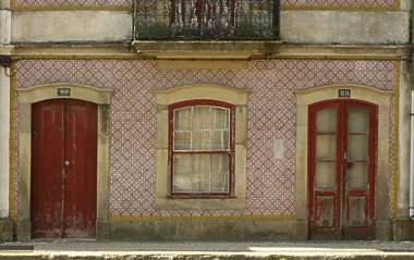 building facade portuguese window doors tiles