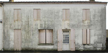 facade house old door window shutters building