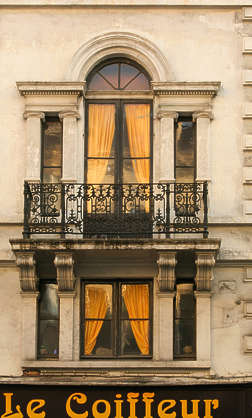 building facade balcony door ornate