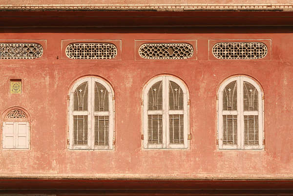 india window windows house old plaster facade building