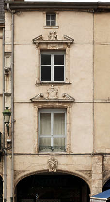 building facade house old windows