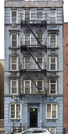 new york united states usa residential old building facade