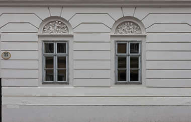 vienna austria windows house wooden tenement residential house