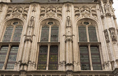 building old facade windows belgium ornate reference