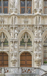 building old facade windows belgium ornate church