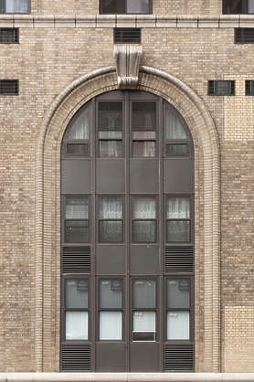 new york ny building facade window windows arch ornate