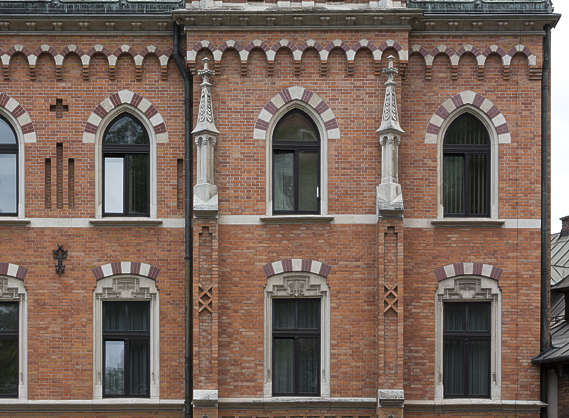 building ornate facade residential