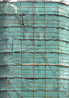 china scaffolding tarp under construction building