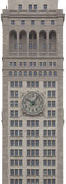 new york ny united states usa building facade tower clock