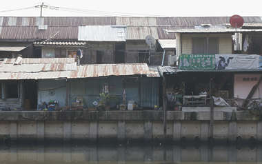 thailand bangkok asia asian building facade old dirty riverside