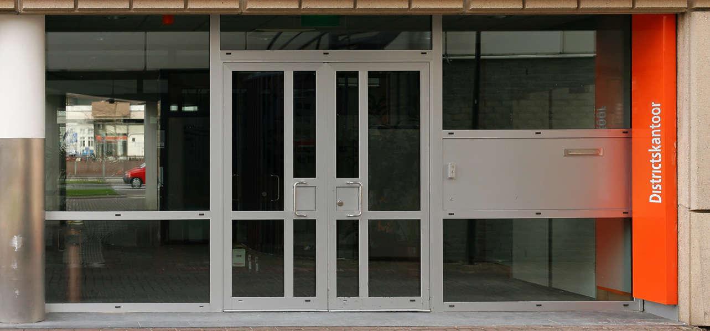 Shops0014 - Free Background Texture - shops facade shop building store window door orange black dark gray grey desaturated & Shops0014 - Free Background Texture - shops facade shop building ...