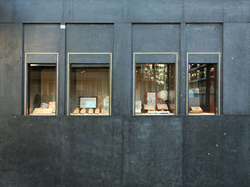 building facade store shop storefront window shopping jewelry