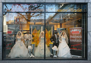 shop store building facade fashion clothes clothing wedding
