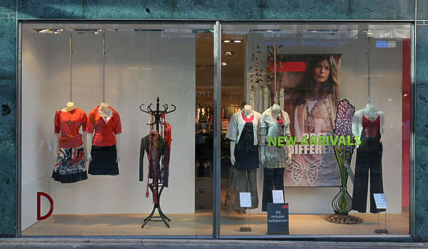 shop store building facade fashion clothes clothing