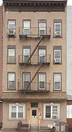 new york ny united states usa building facade residential house staircase