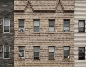 new york ny united states usa building facade residential house wooden