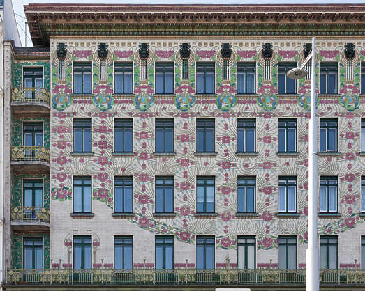 vienna austria building facade residential house tenement ornate