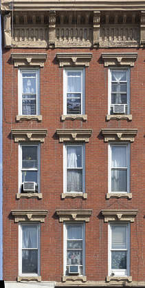 facade building house residential new york ny united states usa