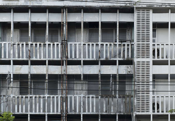 thailand bangkok asia asian building facade residential tall old dirty