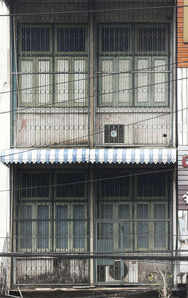 thailand bangkok asia asian building facade old residential