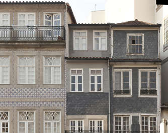 portugal building facade house old residential tall