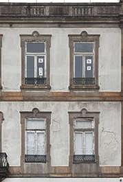 portugal building facade old residential house tenement