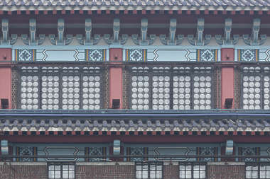 china chinese temple building facade windows