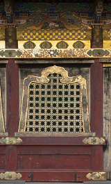 ornate facade building temple shrine japan japanese window windows ornament gilded gold medieval old