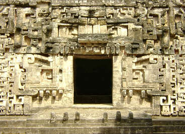 temple maya mayan mayas ornament ornate entrance door