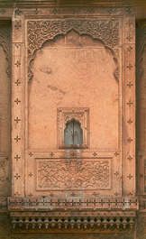 india window panel facade temple arch ornate ornament old medieval