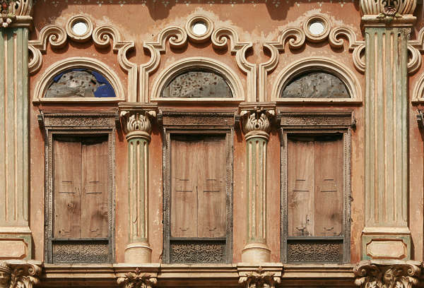india facade building old ornate door doors windows arch