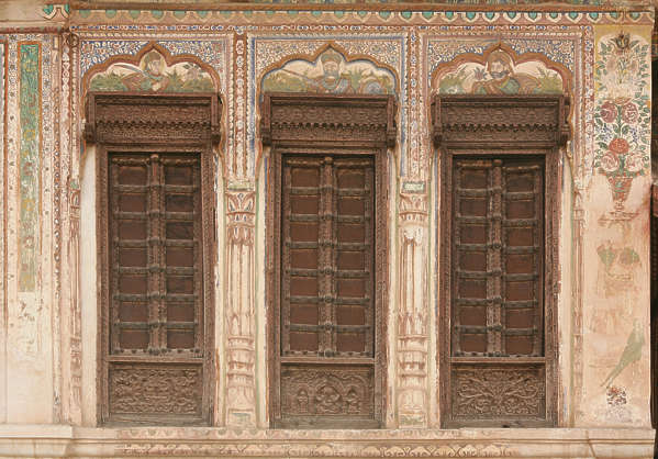 india facade building old ornate arch door doors