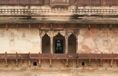 india building facade old plaster temple walkway