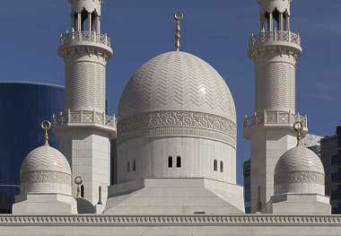 saudi arabia dubai middle east temple domes ornate tower