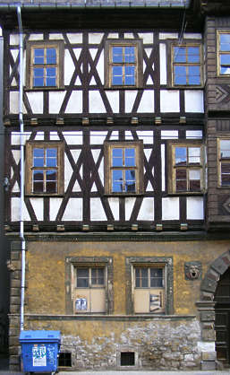 house old fachwerk building facade tudor