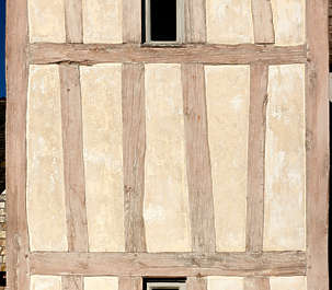 tudor plaster stucco wall building facade medieval old wood