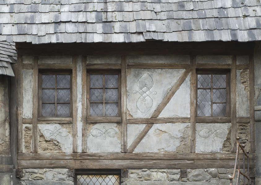 Buildingstudor0055 Free Background Texture Tudor Medieval Wooden Plaster Old Brown Beige