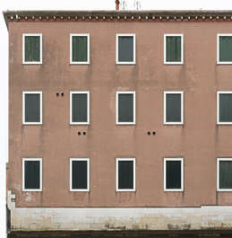 facade building windows old house window italy venice