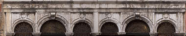 facade ornate columns arches arch building windows window italy venice