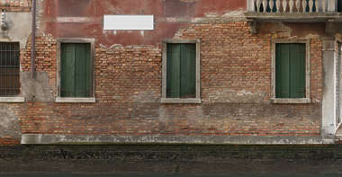 facade windows window building bricks brick italy venice