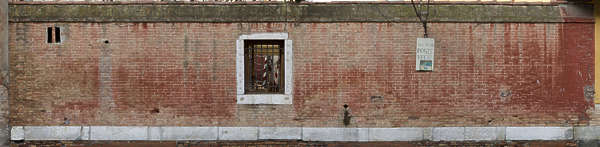 venice italy brick building facade modern weathered old