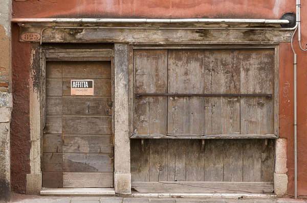 venice italy wood building facade old